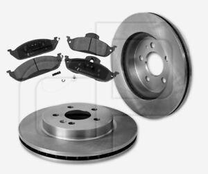 2-Bremsscheiben-4-Bremsbelaege-MERCEDES-vorne-Vorderachse-303-mm-belueftet