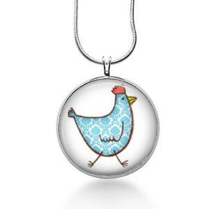 Chicken-Necklace-blue-gingham-farm-chick-cute-jewelry-statement-necklace