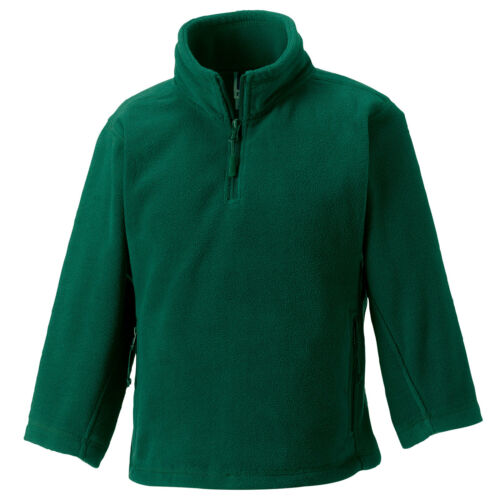 Kid Children Boy Girl Jerzees School Uniform 1//4 Zip Warm Outdoor Fleece Top