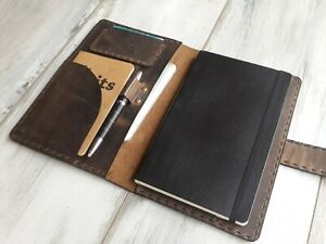 8dde2d6a19e6 Details about Rustic Leather Moleskine Classic Cover Leather Travel Journal  Case Notebook Case