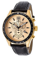 INVICTA Specialty Chronograph Black Genuine Leather Band  Men's Watch - 17770