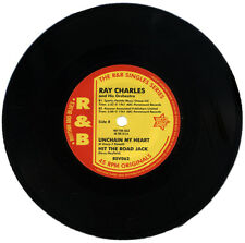 "RAY CHARLES  ""UNCHAIN MY HEART & HIT THE ROAD JACK""   E.P.  KILLER R&B   LISTEN!"