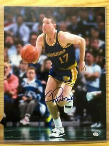 Chris Mullin Golden State Warriors NBA Autographed 11x14 Photo with COA