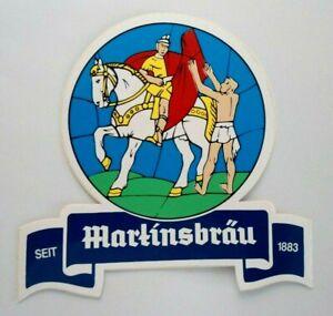 Promotional Stickers Martinsbräu Marktheidenfeld Spessart Logo Brewery Beer 80er