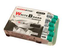 Queen Star 12pcs Dry Erase White Board Marker Pen Green