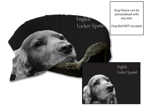 45x31 English Cocker Spaniel Dog Bed Car Blanket Soft Fleece Throw Cover Animal
