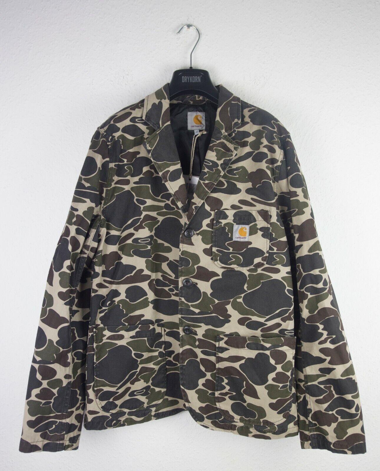 Carhartt WIP Sid Blazer Sakko Camo Isle Rigid Camouflage Armee green Größe M