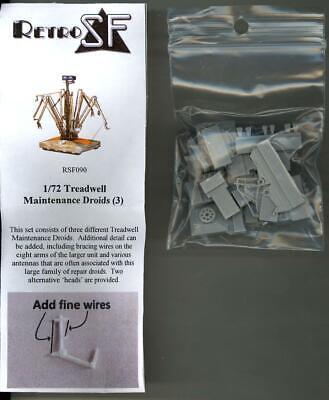 3 RetroKits Models 1//72 TREADWELL MAINTENANCE DROIDS Resin Kit