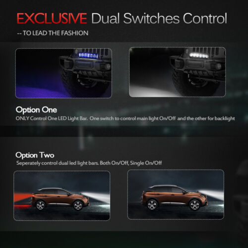 Exclusive MICTUNING Dual Waterproof Switch Wiring Harness Kit LED Light Bar