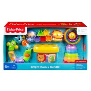 Fisher-Price-Bright-Basics-Bundle-Educational-5-Classic-Toys-Set-Blocks-Baby-New