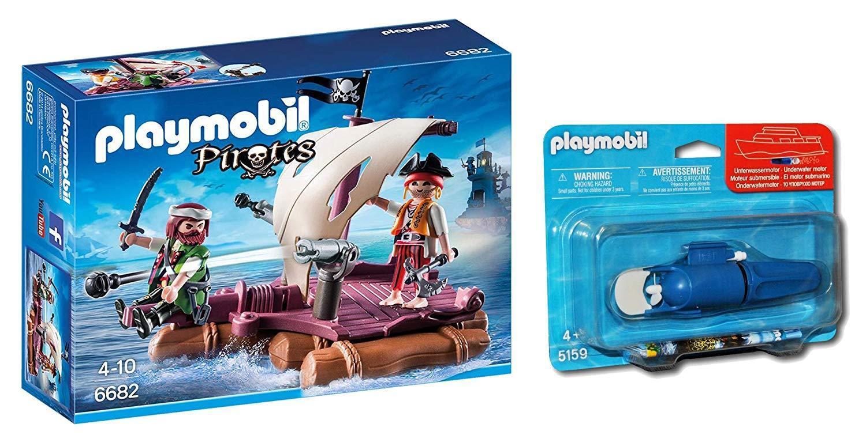 Playmobil Pirates 6682- Radeau Pirate avec Moteur Sous-marin Inclus