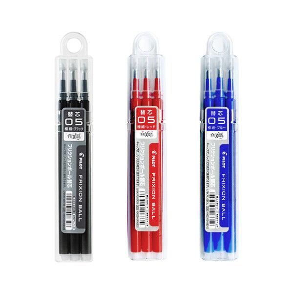 Pilot Frixion Refills - 0.5 mm Erasable Pen Ink Cartridge