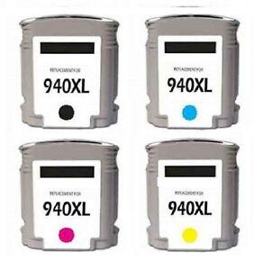 4X-Cartuchos-Set-para-hp-Officejet-pro-8000-8500-Nr-940-940XL-con-Chip