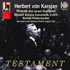 Sinfonie Concertante K 297b/Also sprach Zarath. von Herbert von Karajan,Berliner Philharmoniker (2013)