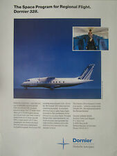 10/1990 PUB DORNIER 328 DEUTSCHE AEROSPACE AVION HOTESSE AIR ORIGINAL AD