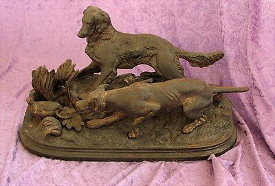Collection Here Antike Eisenguss Skulptur Jagd 19 Jahrhundert Metallobjekte