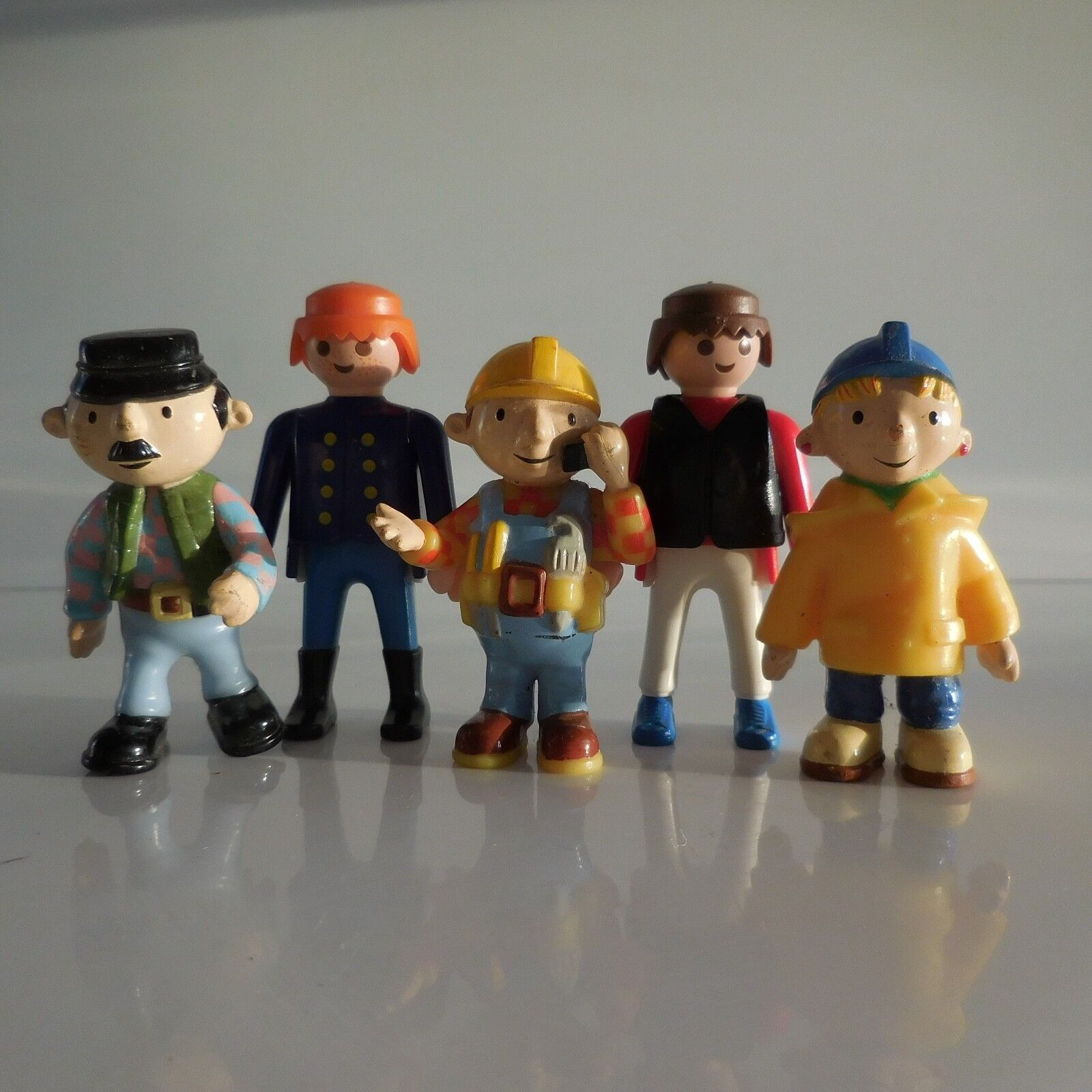 5 figurines personnages 3 HIT 2 GEOBRA 1992 jouets vintage Playmobil PN France