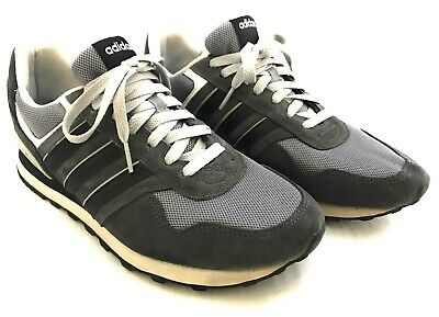 Adidas Neo Cloudfoam Footbed 10k Running Shoes Men's Size US 9.5 Gray F99290