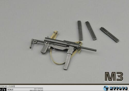 1//6 Scale M3 Submachine Gun World War II US Army Toys Weapon Models for 12/'/'