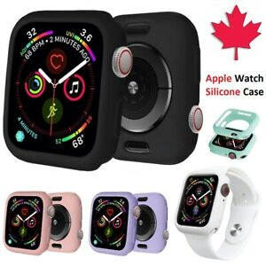 Apple Watch Case Silicone Lightweight Slim Soft Cover For Series 1 2 3 4 5 6 SE