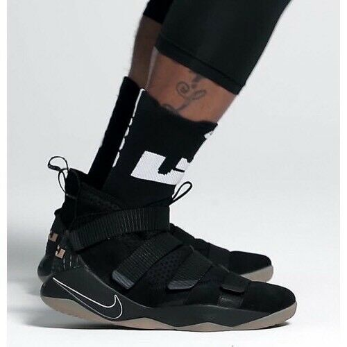 Nike Lebron Soldier XI 897644-007 Noir Taille UK 8 EU 42.5 US 9 NEW-