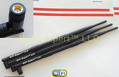 3x HIGH GAIN 9dBi RP-SMA Antennas for Asus RT-AC66U AC1750 RT-N16 Gigabit Router