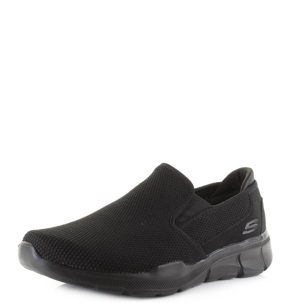 Da Uomo Skechers Equalizer 3.0 Straccio Nero Infilare Infilare Infilare Leggero scarpe da ginnastica UK | Caratteristico  3e8c34