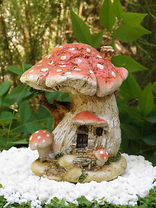 Merveilleux Image Is Loading Miniature Dollhouse FAIRY GARDEN Small Red Mushroom Fairy