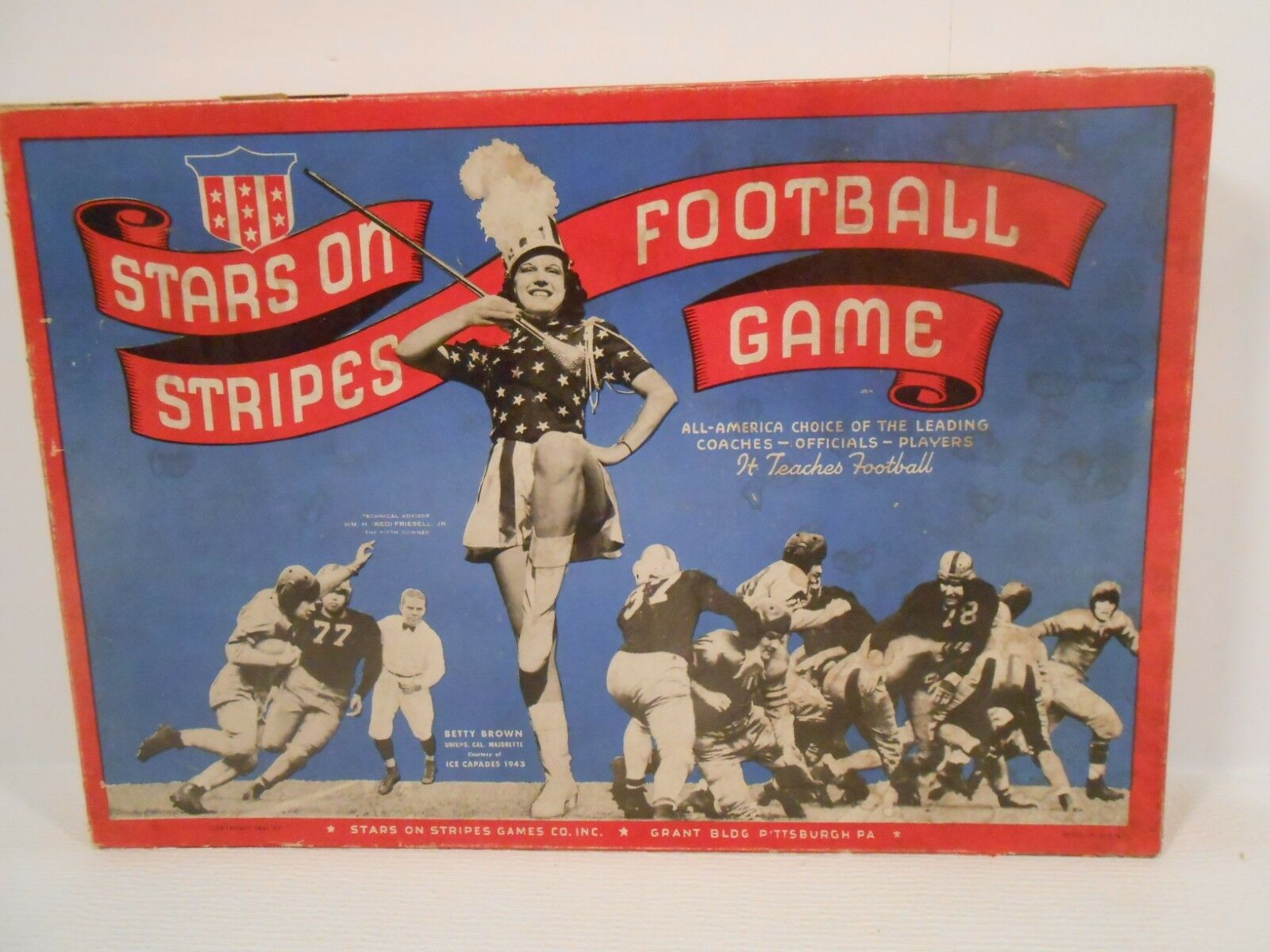 Stars On Stripes Football Board Game by Stars and Stripes Games 1941