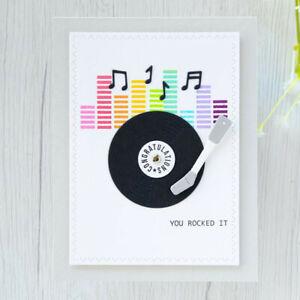 Stanzschablone-Schallplatte-Musik-Geburtstag-Hochzeit-Weihnachts-Karte-Album-DIY