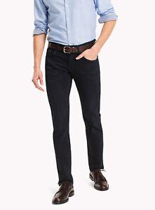 ad145fbc Image is loading Tommy-Hilfiger-Denton-Straight-Fit-Jeans-Blue-Black