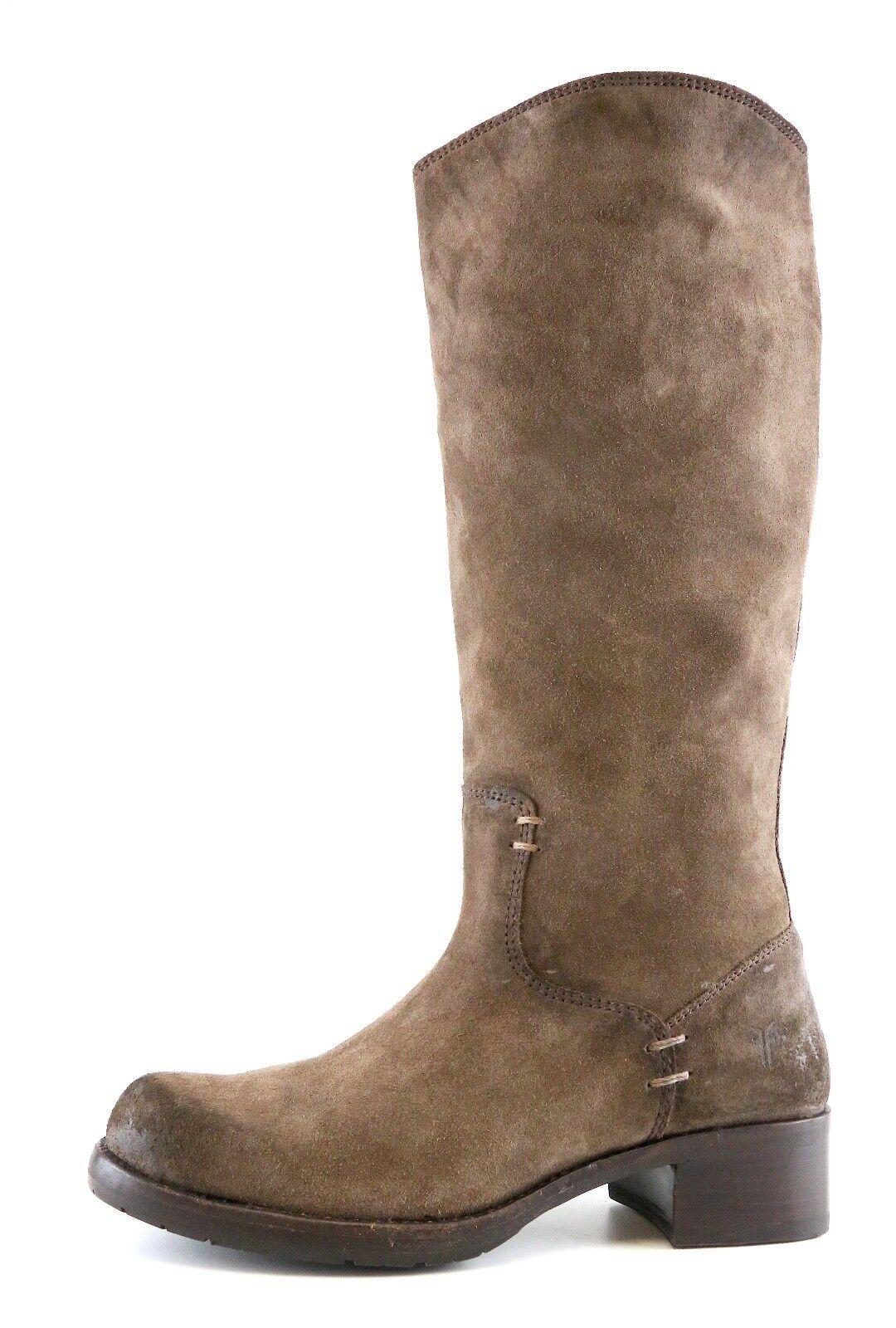 FRYE Elena Pull On Suede Boots Brown Women Sz 8.5 B 6811 *