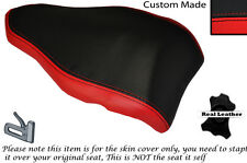 BLACK & RED DESIGN 2 CUSTOM FITS DUCATI 848 1098 1198 REAR LEATHER SEAT COVER