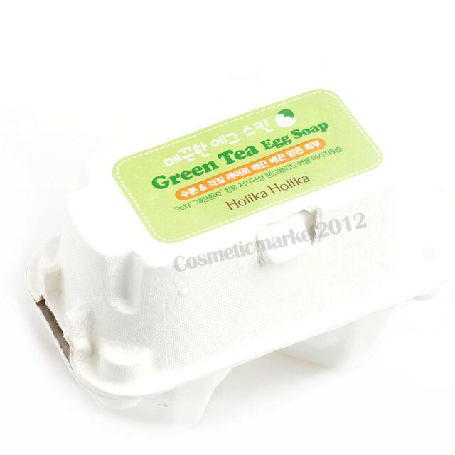 Holika Holika Egg Soap Set #Green Tea 50g x 2 pcs Free gifts