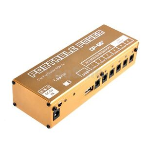 caline guitar effect pedals power supply 9v rechargeable battery isolated output ebay. Black Bedroom Furniture Sets. Home Design Ideas