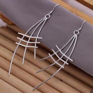 ASAMO-Damen-Gitter-Ohrhaenger-Ohrringe-925-Sterling-Silber-plattiert-O1177