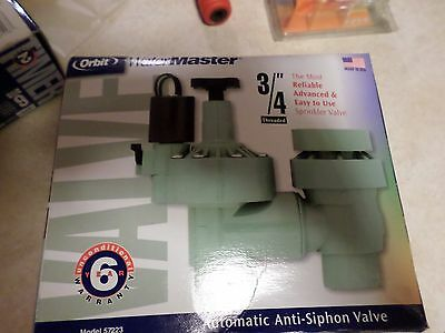 NEW WATERMASTER 3/4 AUTOMATIC ANTI-SIPHON VALVE 57223