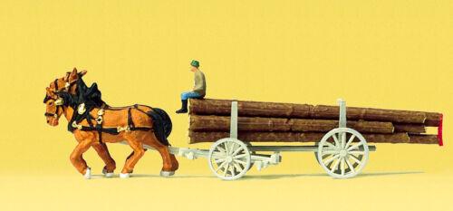 Langholzwagen #NEU in OVP# Preiser 79477 Spur N Figuren