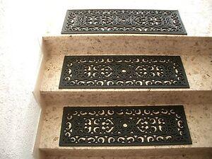 Stufenmatte-Treppenstufe-Gummi-Relief-Gummimatte-Fussmatte-Gussoptik-75x25cm