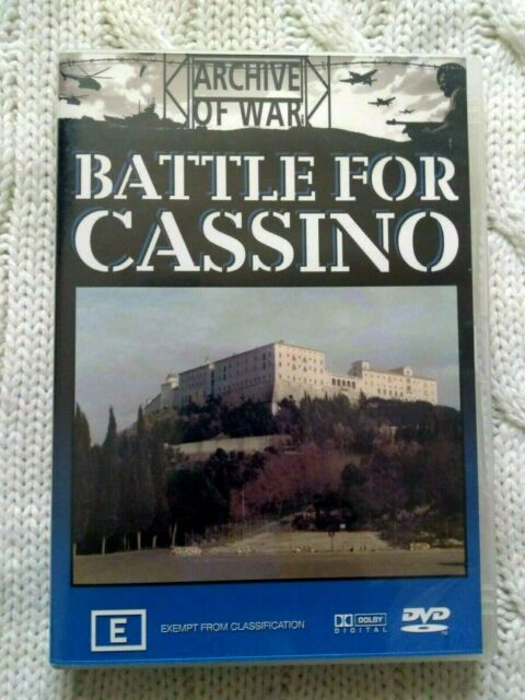 ARCHIVE OF WAR : BATTLE FOR CASSINO – DVD- R-4- LIKE NEW- FREE POST IN AUSTRALIA