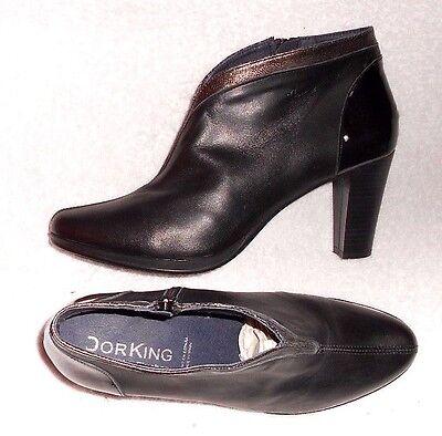 JONAK LOW BOOTS cuir noir P 39 = 38 TBE EUR 38,00