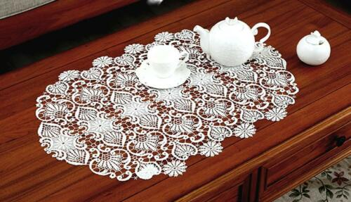 Hollowed Embroidery Table Runner Vintage Wedding Lace Table Runner Home Decor