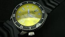 Vintage Seiko divers 7002 CLASSIC YELLOW DIAL BB YELLOW SAPPHIRE CRYSTAL K49