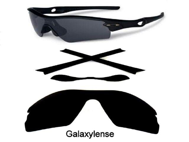 3492b21e0f Galaxy Replacement Black Polarized Lenses + Rubber Kits For Oakley Radar  Path
