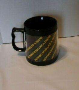 "Vtg JOHN DEERE Thermo-Serv Plastic Mug Cup ""Nothing Runs Like A Deere"" 10 0z."