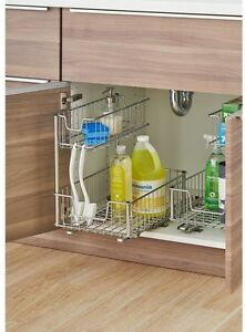 Image Is Loading In Cabinet Pull Out Storage Organizer Under Sink