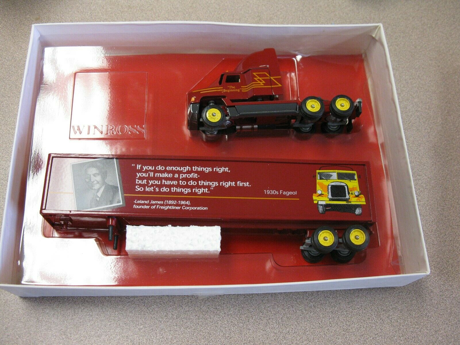 WINROSS THOSE GREAT FREIGHTLINERS  VAN LINER SEMI TRACTOR TRAILER LELAND JAMES