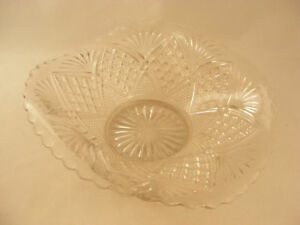 Antikglas Antiquitäten & Kunst 9-1/5.1cm X 20.3cm Overall Größe Warnen Glas Oval Ausgestellte Schale