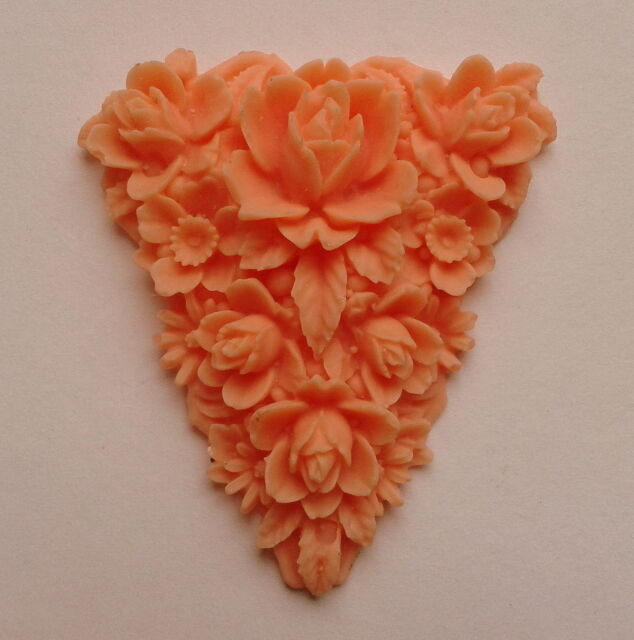 FLORAL TRIANGLE - silicone mould - resin ,fimo, wax polymer clay sugarcraft mold