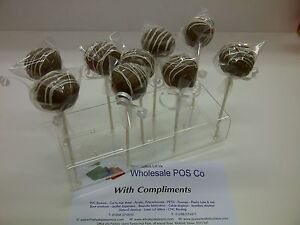 ACRYLIC-CAKE-POP-STAND-CLEAR-OR-COLOURED-PERSPEX-11-HOLE-PUSH-POP-DISPLAY